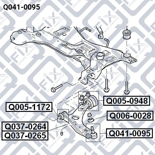 Опора шаровая Q-FIX Q0410095