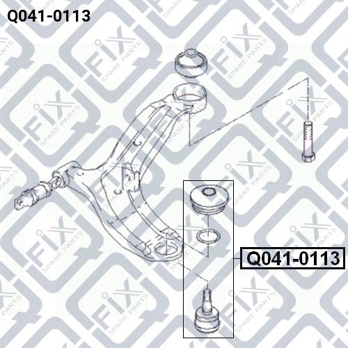 Опора шаровая Q-FIX Q0410113