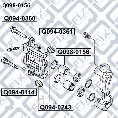 Поршень суппорта тормозного переднего Q-FIX Q0980156