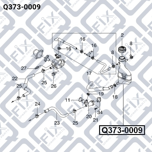 Бачок радиатора Q-FIX Q3730009