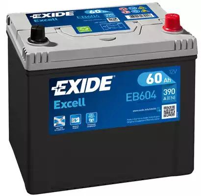 EXIDE - EB604 Аккумулятор ПРАВ [+] 12V 60AH 390A 230*172*220 EXCELL