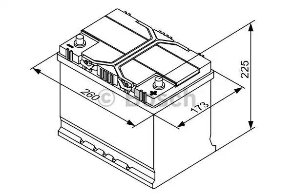 Аккумулятор S4 ASIA ПРАВ [+] 12V 70AH 630A 261*175*220 Bosch 0092S40260 фото 5