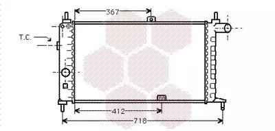 Van Wezel - 37002064 Радиатор