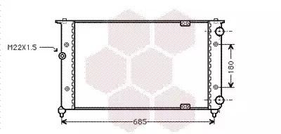 Van Wezel - 49002021 Радиатор