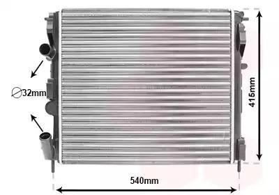Van Wezel - 43002270 Радиатор