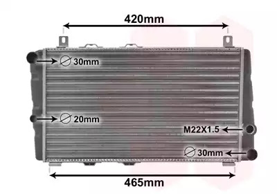 Van Wezel - 76002002 Радиатор