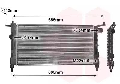 Van Wezel - 37002183 Радиатор