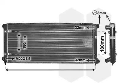 Van Wezel - 58002041 Радиатор