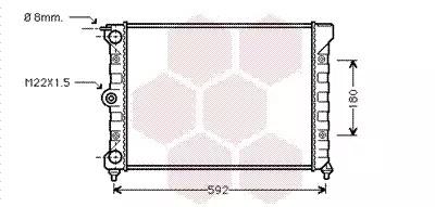 Van Wezel - 58002011 Радиатор