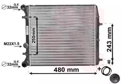 Van Wezel - 76002005 Радиатор