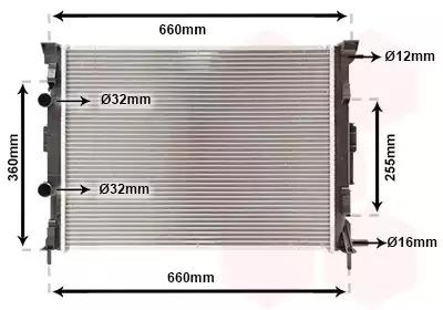 Van Wezel - 43002308 Радиатор