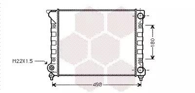 Van Wezel - 58002070 Радиатор