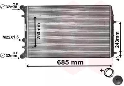 Van Wezel - 76002006 Радиатор