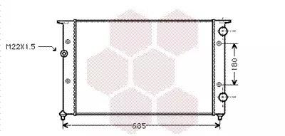 Van Wezel - 58002102 Радиатор