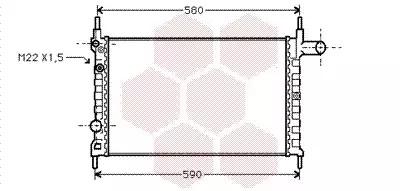 Van Wezel - 37002150 Радиатор