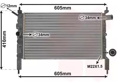 Van Wezel - 37002023 Радиатор
