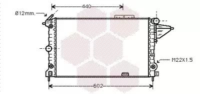 Van Wezel - 37002120 Радиатор