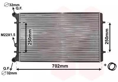 Van Wezel - 03002155 Радиатор